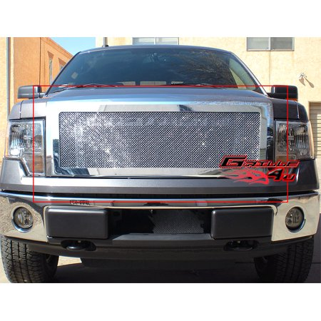 2012 F150 Grill >> Fits 2009 2012 Ford F150 Stainless Steel Mesh Grille Grill Insert F76632t