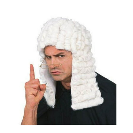 Judge Wig - White - Adult Costume Accessory - White Costume Wig