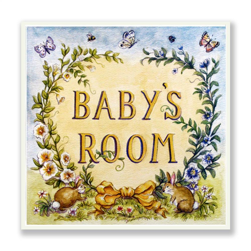 Baby's Room Square Wall Plaque