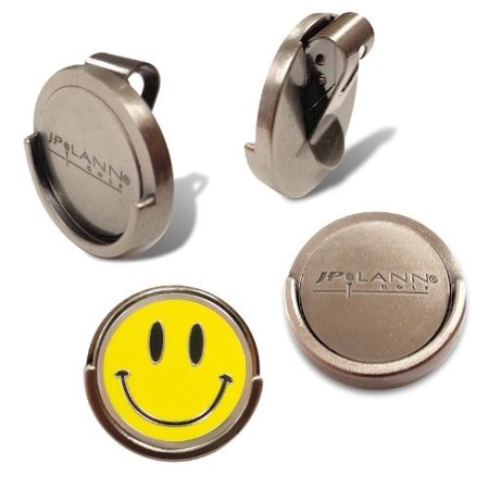 JP Lann's Magnetic Visor Clip with Removable Golf Ball Marker (Choose from several Design Styles) Magnetic Ball Marker