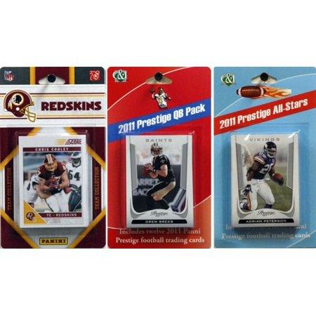 Nfl Washington Redskins Licensed 2011 Score Team Set With Twelve Card 2011 Prestige All Star And Quarterback Set