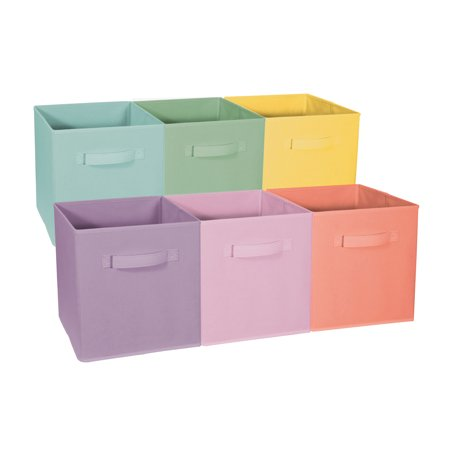 Sorbus Foldable Storage Cube Basket Bin - Great for Nursery, Playroom, Closet, Home Organization (6 Pack) - Art Boxes