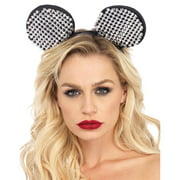 Mouse Ears Studded Adult Costume, One Size