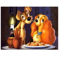 The Lady and the Tramp Edible Cake Topper Image