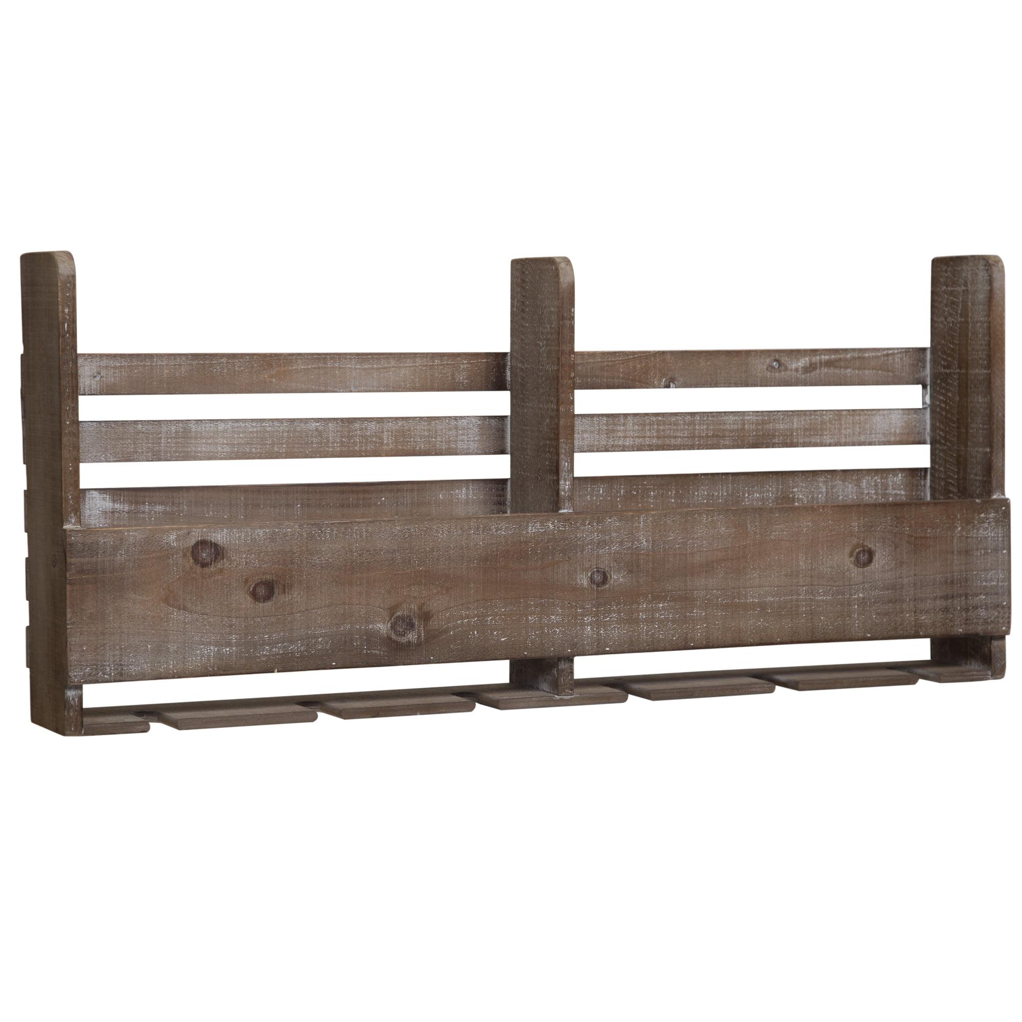 Gallery Solutions Reclaimed Wood Pallet Wine Rack   Walmart.com