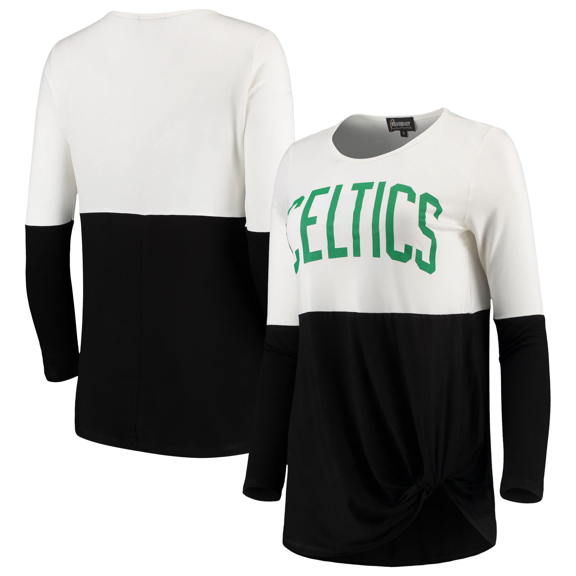 Boston Celtics Women's In It To Win It Colorblock Long Sleeve T-Shirt - Black