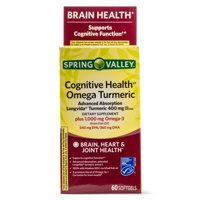 Spring Valley Cognitive Health Omega Turmeric Softgels, 60 ct