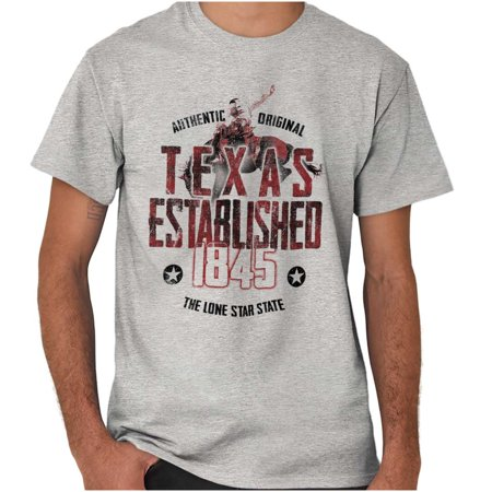 Brisco Brands Texas Lone Star Rustic Nature Short Sleeve Adult T-Shirt