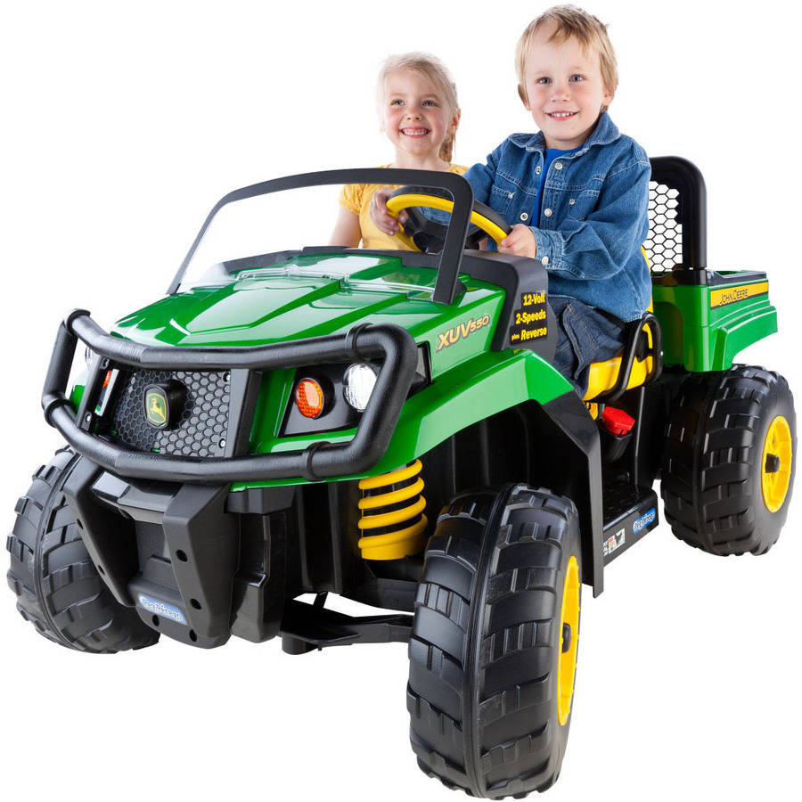 With The Peg Perego John Deere Gator Xuv Ride On Adventurous Kids