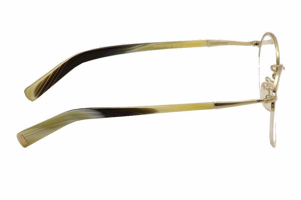8bf4700dfd Tom Ford Unisex Eyeglasses FT5334-032 Round Gold Horn Semi-Rimless Frames -  Walmart.com