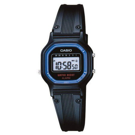 Casio LA11WB-1 Women's Black Resin Band Daily Alarm Chronograph Digital Watch ()