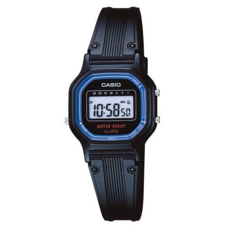 Casio LA11WB-1 Women's Black Resin Band Daily Alarm Chronograph Digital