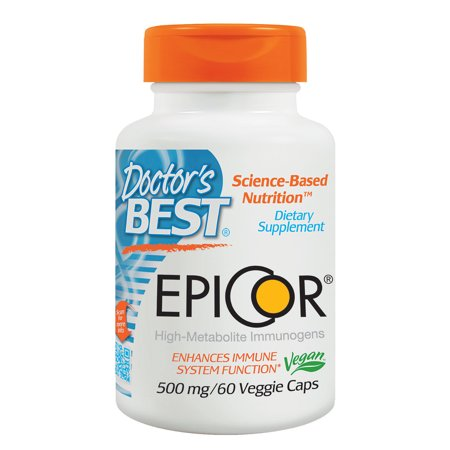 Doctor's Best Epicor, Non-GMO, Vegan, Gluten Free, 500 mg, 60 Veggie