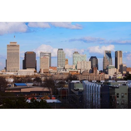 The Nashville skyline as Viewed from the west side and 5 stories above ground Print Wall Art](Party City Nashville West)