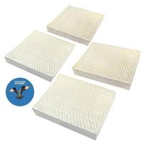 HQRP 4pcs Filter Pack for Stadler Form OSKAR / Oskar Little / Oskar BIG Evaporative Humidifiers, O-030 O-031 Replacements + HQRP Coaster