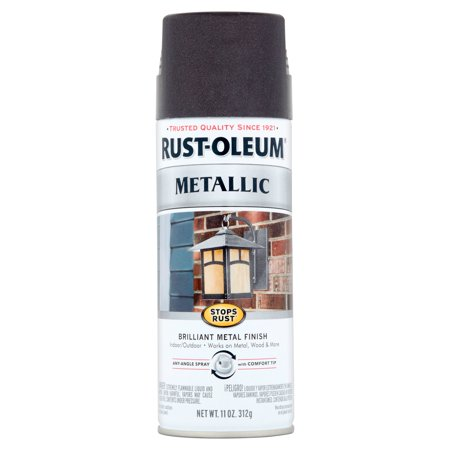 Rust-Oleum Stops Rust Black Night Metallic Brilliant Metal Finish Spray, 11 -
