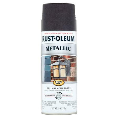 Rust Oleum Stops Rust Black Night Metallic Brilliant Metal Finish Spray 11 oz
