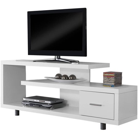 (Monarch Tv Stand White With 1 Drawer For TVs Up To 47