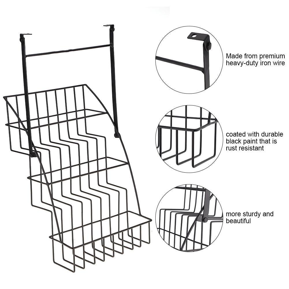 Ejoyous Kitchen Storage Shelfspice Rackcoated Iron Wire 3 Tier