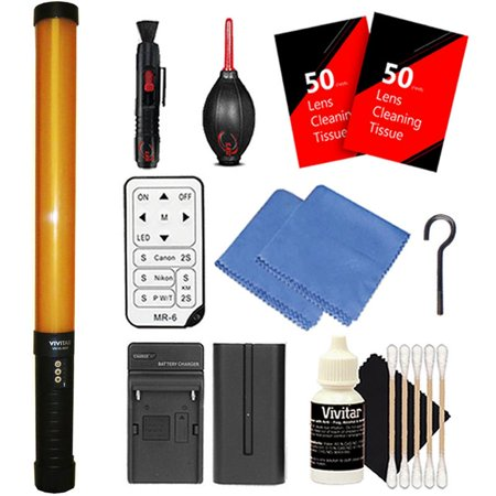 Vivitar Photographic Led Light Wand 298Pcs Leds Dimmable With 3200 5600K Color Temperature With Rechargeable Battery And Remote For Youtube  Studio  Video Shooting And Product Photography