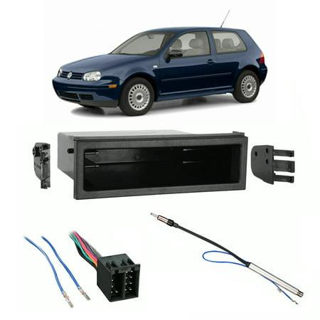 Fits Volkswagen Golf 1999-2002 Single DIN Car Harness Radio Install on vw bus wiring harness, vw radio removal tool, vw turn signal wiring harness,