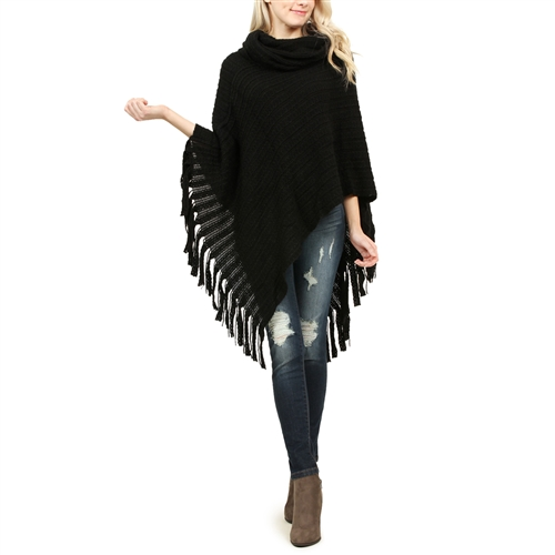Click here to buy Classic Cowl Winter Poncho by Riah Fashion.