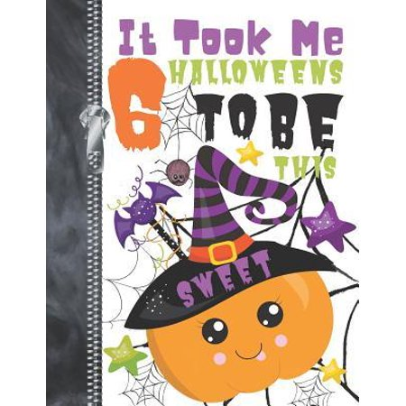 Pumpkin Drawings For Halloween (It Took Me 6 Halloweens To Be This Sweet : Spooky Night Creatures Pumpkins Doodling & Drawing Art Book Sketchbook Journal For Boys And)