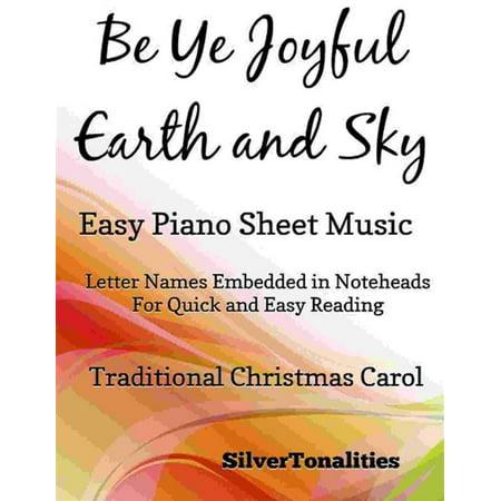 Be Ye Joyful Earth and Sky Easy Piano Sheet Music -