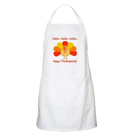 CafePress - Happy Thanksgiving, Turkey BBQ Apron - Kitchen Apron with Pockets, Grilling Apron, Baking