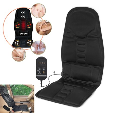8 Mode 3 Intensity Car Massage Chair Cushion Body Neck Back Lumbar Massager Relaxation Seat Heater Pad For Car Household Office