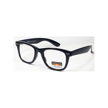 9f5fe00f14cc Multi Focus 3 in 1 Progressive Reading Glasses Square Black +2.50 -  Walmart.com