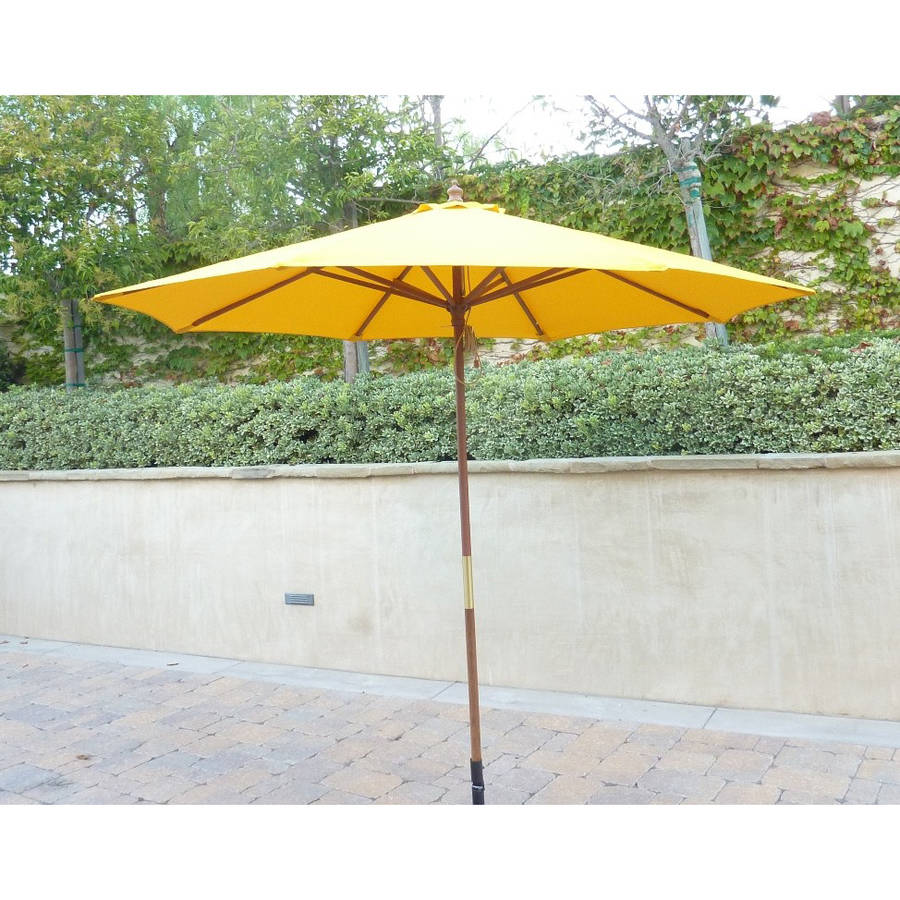 Formosa Covers 9ft Umbrella Replacement Canopy 8 Ribs in Yellow (Canopy Only)
