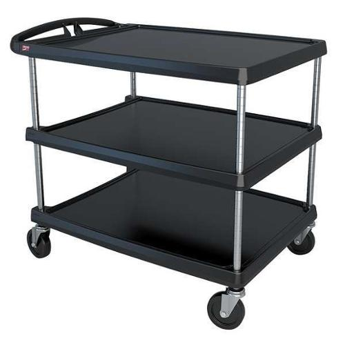 METRO MY2636-35BL Utility Cart,500 lb. Load Cap.,3 Shelves