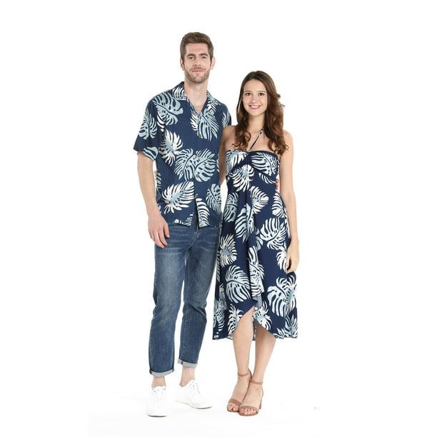 Hawaii Hangover Couple Matching Hawaiian Luau Party Outfit Set Shirt Dress In Wedding White Walmart Com Walmart Com