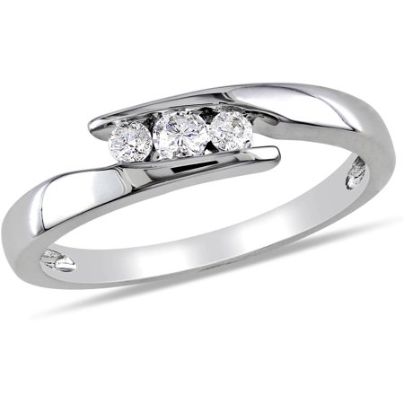 Miabella 1/5 Carat T.W. Diamond Sterling Silver Promise Ring