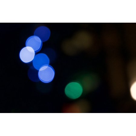 Bokeh Blur Abstract Background Poster Print 24 x 36