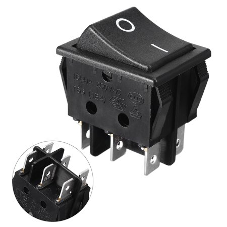 AC 250V/16A 125V/20A 6 Pins Double Pole Double Throw Rocker Switch