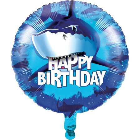 Creative Converting Shark Splash Metallic Balloon 18