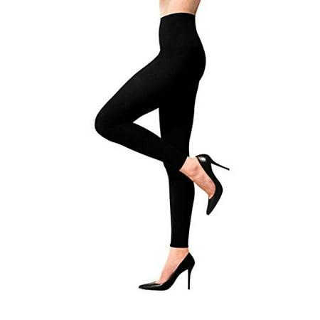 394e8f8a95d51 Terramed Women Advanced Footless Graduated Compression Microfiber Leggings  Tights (Large, Black)