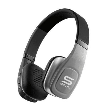 SOUL Electronics SV3SLV Volt Bluetooth Pro Hi-Definition On-Ear Headphones, Silver
