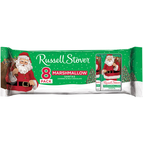 Russell Stover Holiday Marshmallow Santas, 8 count, 7 oz