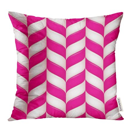 STOAG Pink Sugar Abstract Candys Red Magenta Zag Throw Pillowcase Cushion Case Cover 16x16 inch ()
