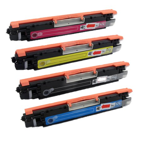 4 Pack New Compatible with HP CE310A CE311A CE312A CE313A Toner Cartridge for HP Used 126A CE310 CE310A