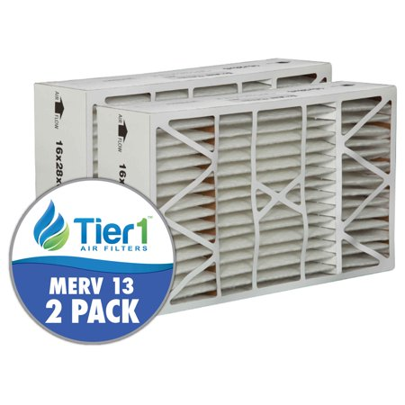 White Rodgers Furnace Filters - White Rodgers 16x28x6 Merv 13 Replacement AC Furnace Air Filter (2 Pack)