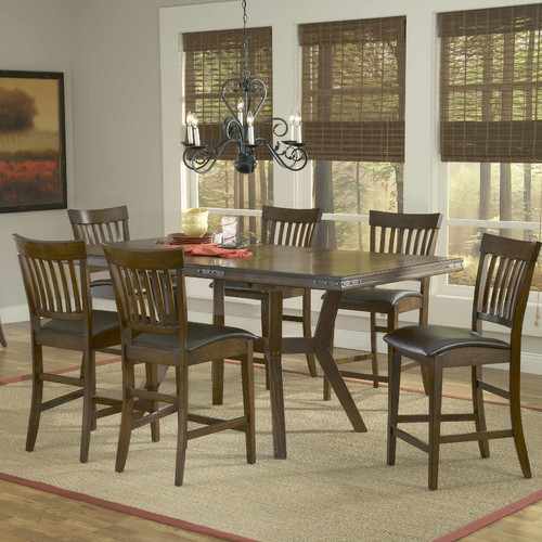 Hillsdale Furniture Arbor Hill 7 Piece Counter Height Dining Room Set by Hillsdale