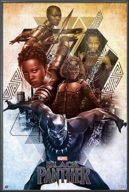 "Black Panther Marvel Movie Poster   Print (Characters) (Size: 24"" x 36"") by"