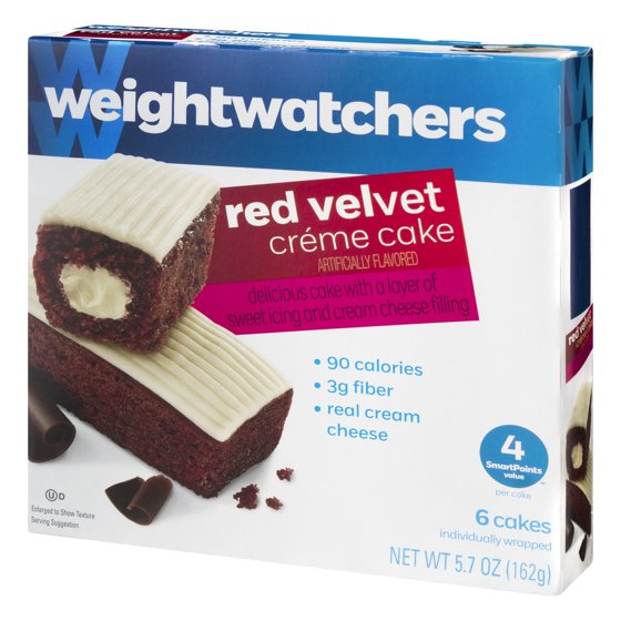 Weight Watchers Red Velvet Creme Cake 6 Ct 57 Oz Walmart