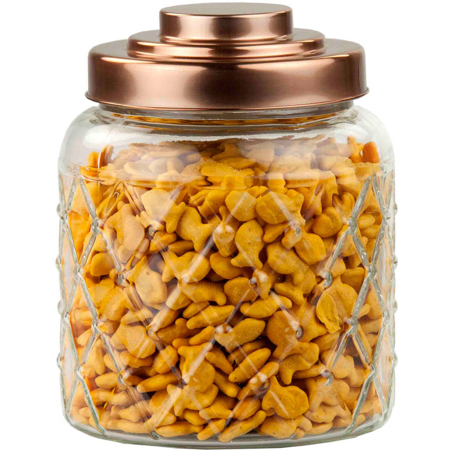Home Basics Glass Jar with Copper Top