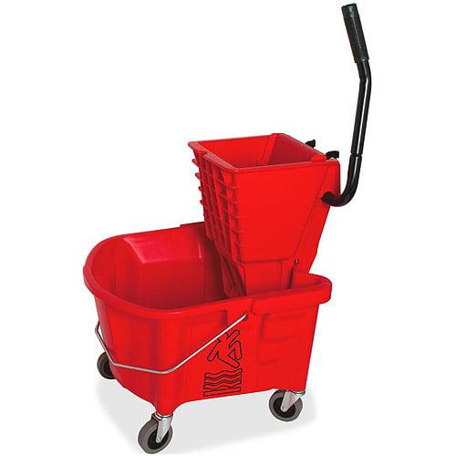 Genuine Joe Mop Bucket/Wringer Combo, Red