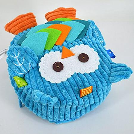 Kennedy Children Toddler Plush Backpack Cute Cartoon Owl Shape Pre School Backpack Owl Plush Bag Kid Backpack Blue - image 1 of 3
